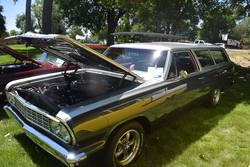 A 1964 Chevelle 300 2 Door Wagon, owned by Jim Peters, of Sterling, was among the vehicles on display at Colorado Flatlanders 25th Annual Rod Run in the Park Saturday, July 9, 2016, at Pioneer Park.
