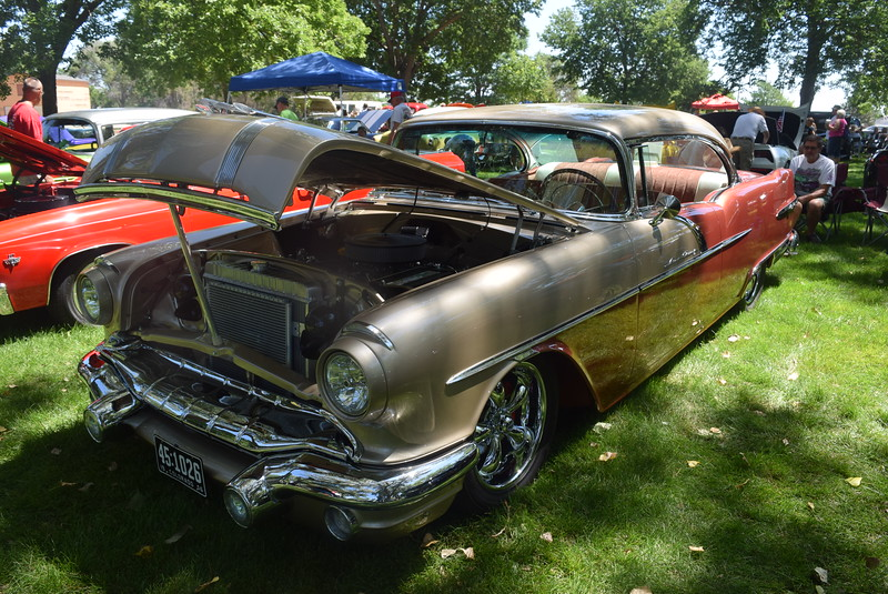 A 1956 Pontiac Star Chief, owned by Harold Aldridge, of Longmont, was among the vehicles on display at Colorado Flatlanders 25th Annual Rod Run in the Park Saturday, July 9, 2016, at Pioneer Park.