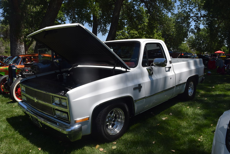 A 1985 Chevrolet C10, owned by Aaron Kelly, of Parker, was among the vehicles on display at Colorado Flatlanders 25th Annual Rod Run in the Park Saturday, July 9, 2016, at Pioneer Park.
