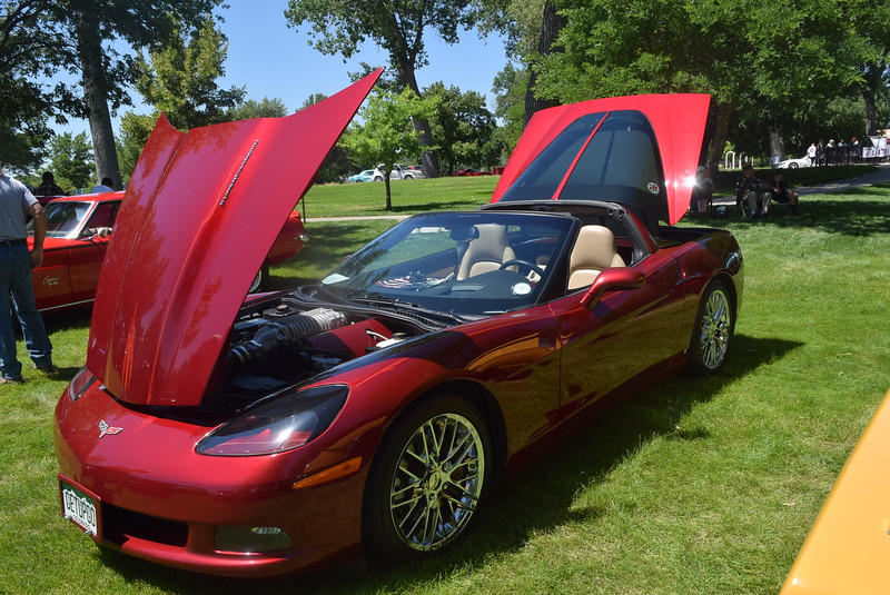 A 2006 Chevy Corvette, owned by Dennis Workman, of Haxtun, was among the vehicles on display at Colorado Flatlanders 25th Annual Rod Run in the Park Saturday, July 9, 2016, at Pioneer Park.