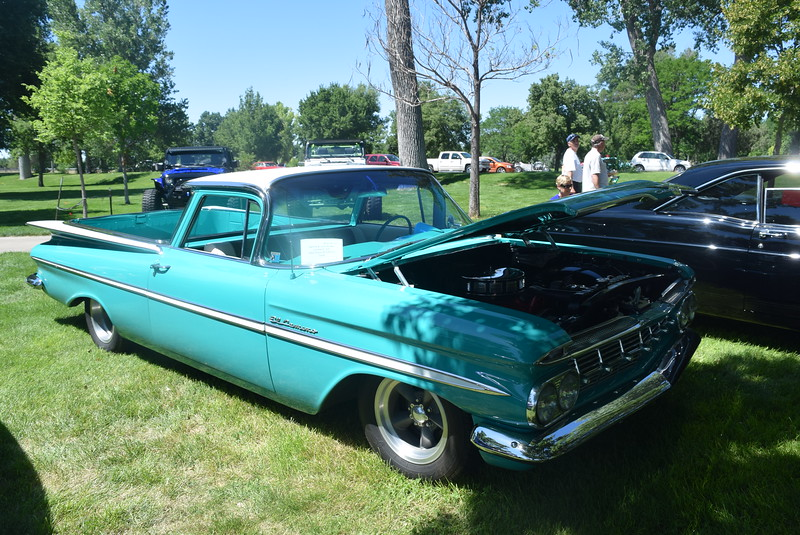 A 1959 Chevy El Camino, owned by Dennis and Julie Knapp, of Loveland, was among the vehicles on display at Colorado Flatlanders 25th Annual Rod Run in the Park Saturday, July 9, 2016, at Pioneer Park.