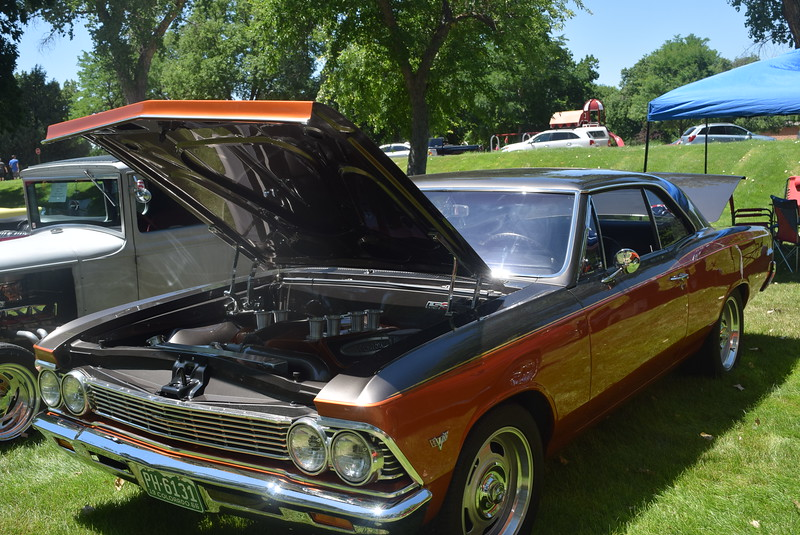 A 1966 Chevy Chevelle, owned by Billy Richmond, of Dupont, was among the vehicles on display at Colorado Flatlanders 25th Annual Rod Run in the Park Saturday, July 9, 2016, at Pioneer Park.