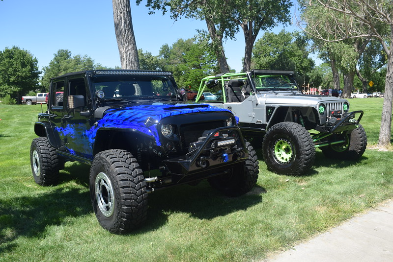 Jeeps were among the vehicles on display at Colorado Flatlanders 25th Annual Rod Run in the Park Saturday, July 9, 2016, at Pioneer Park.