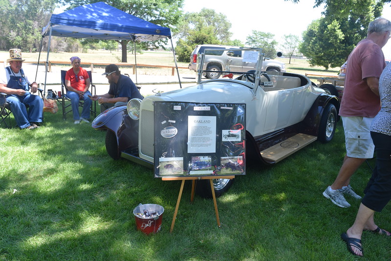 A 1918 Oakland Roadster, owned by Bill Foster, of Littleton, was among the vehicles on display at Colorado Flatlanders 25th Annual Rod Run in the Park Saturday, July 9, 2016, at Pioneer Park.