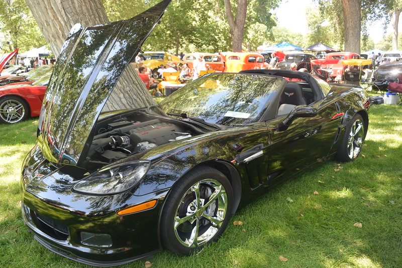 A 2011 Chevrolet Corvette, owned by John and Bobbie Jo Donnafield, of Morrison, was among the vehicles on display at Colorado Flatlanders 25th Annual Rod Run in the Park Saturday, July 9, 2016, at Pioneer Park.