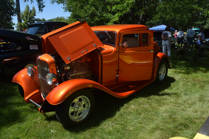 A 1932 Ford 5W Coupe, owned by Bob and Donna Benallo, of Arvada, was among the vehicles on display at Colorado Flatlanders 25th Annual Rod Run in the Park Saturday, July 9, 2016, at Pioneer Park.