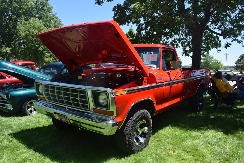 A 1978 Ford F150, owned by Jeff Engelhaupt, of Alliance, Neb., was among the vehicles on display at Colorado Flatlanders 25th Annual Rod Run in the Park Saturday, July 9, 2016, at Pioneer Park.