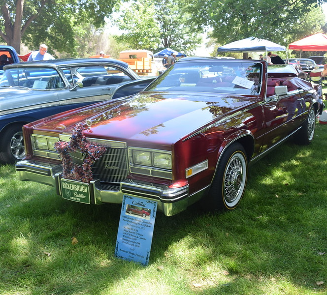 A 1984 Eldorado Biarritz Convertible was among the vehicles on display at Colorado Flatlanders 25th Annual Rod Run in the Park Saturday, July 9, 2016, at Pioneer Park.