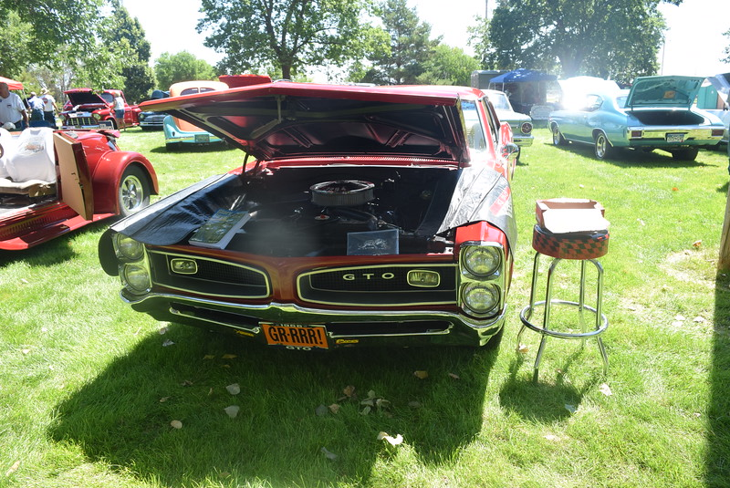 A 1966 Pontiac GTO, owned by Stephen S. Deshayes, of Ogallala, Neb., was among the vehicles on display at Colorado Flatlanders 25th Annual Rod Run in the Park Saturday, July 9, 2016, at Pioneer Park.