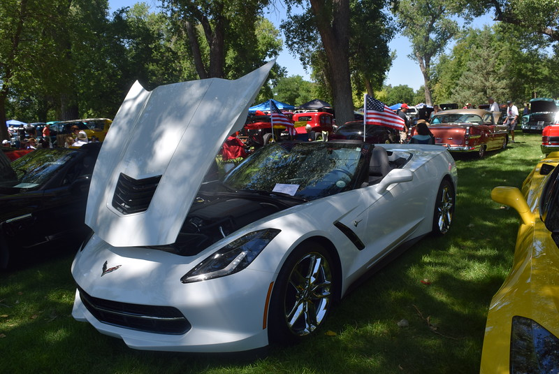 A 2014 Chevrolet Corvette, owned by Steve Culbertson, of Parker, was among the vehicles on display at Colorado Flatlanders 25th Annual Rod Run in the Park Saturday, July 9, 2016, at Pioneer Park.