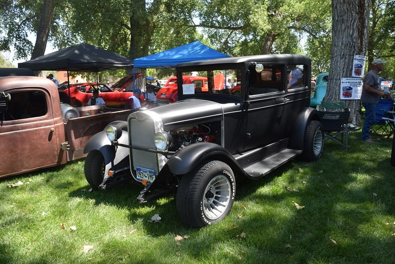 A 1926 Chevy Sedan, owned by Mike Nolde, of Fleming, was among the vehicles on display at Colorado Flatlanders 25th Annual Rod Run in the Park Saturday, July 9, 2016, at Pioneer Park.
