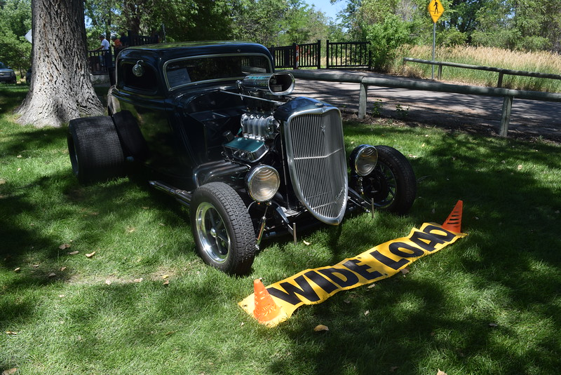 A 1934 Ford Coupe, owned by Robert and Sheryl Luther, of Greeley, was among the vehicles on display at Colorado Flatlanders 25th Annual Rod Run in the Park Saturday, July 9, 2016, at Pioneer Park.
