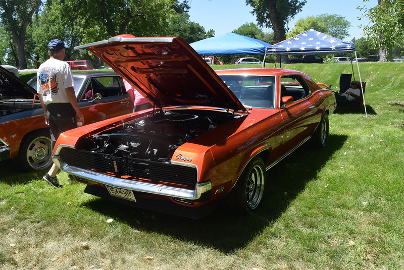A 1969 Mercury Cougar, owned by Clarence Roach, of Broomfield, was among the vehicles on display at Colorado Flatlanders 25th Annual Rod Run in the Park Saturday, July 9, 2016, at Pioneer Park.