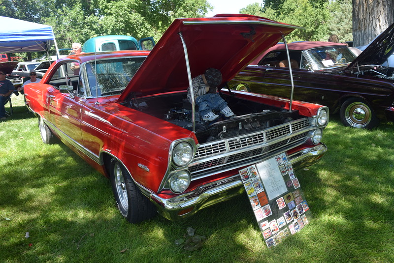 A 1967 Ford Fairlane XL, owned by Keith Damrow, of Akron, was among the vehicles on display at Colorado Flatlanders 25th Annual Rod Run in the Park Saturday, July 9, 2016, at Pioneer Park.
