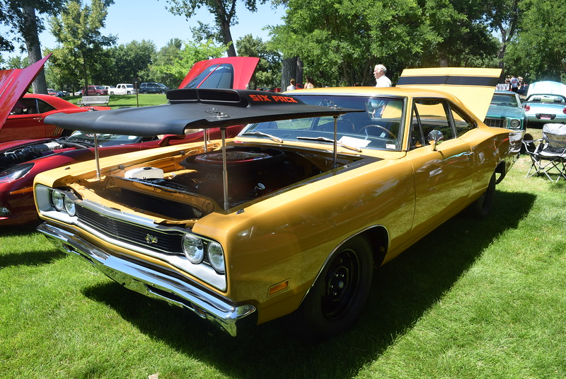 A 1969 Dodge Super Bee, owned by Shannon McCartney, of Sidney, Neb., was among the vehicles on display at Colorado Flatlanders 25th Annual Rod Run in the Park Saturday, July 9, 2016, at Pioneer Park.