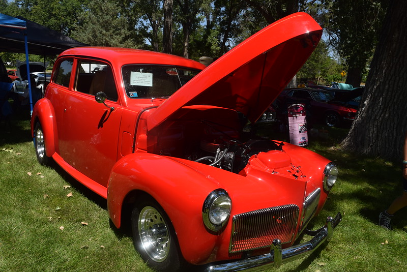 A 1941 Studebaker Champion, owned by Ed and Sandy Fields, of Bennett, was among the vehicles on display at Colorado Flatlanders 25th Annual Rod Run in the Park Saturday, July 9, 2016, at Pioneer Park.