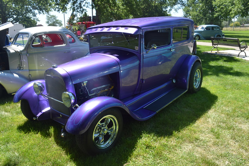 A 1928 Ford 2dr Sedan, owned by Dave and Connie Campbell, of Loveland, was among the vehicles on display at Colorado Flatlanders 25th Annual Rod Run in the Park Saturday, July 9, 2016, at Pioneer Park.