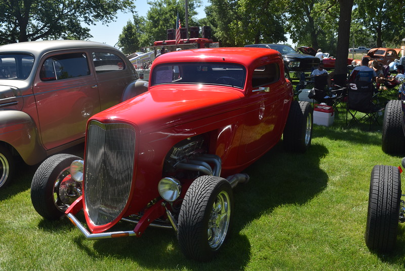 A 1933 Ford Coupe, owned by Kent Sullivan, of Loveland, was among the cars on display at Colorado Flatlanders 25th Annual Rod Run in the Park Saturday, July 9, 2016, at Pioneer Park.
