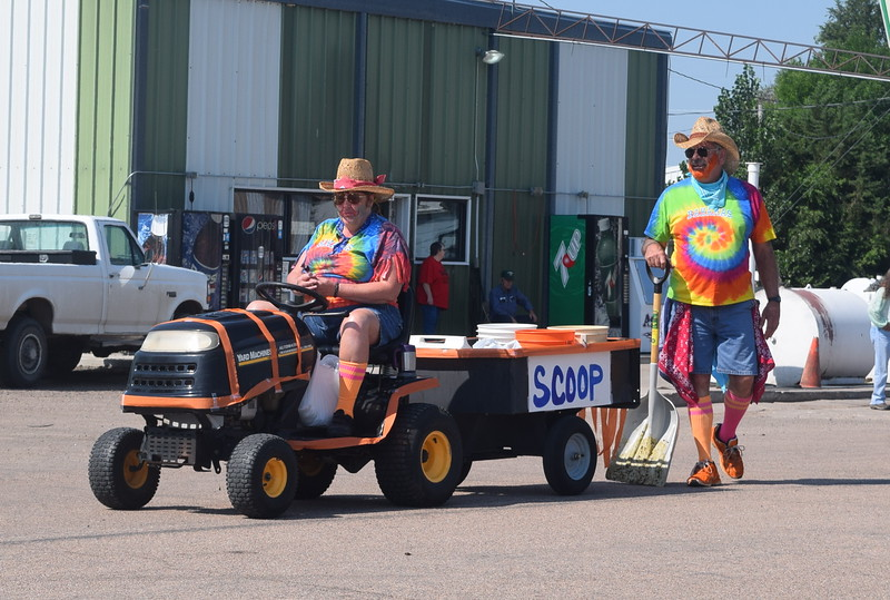 Scoop the Clown makes his way down the parade route at the Crook Fair Saturday, July 29, 2016. He was named the first place winner in the Family category.