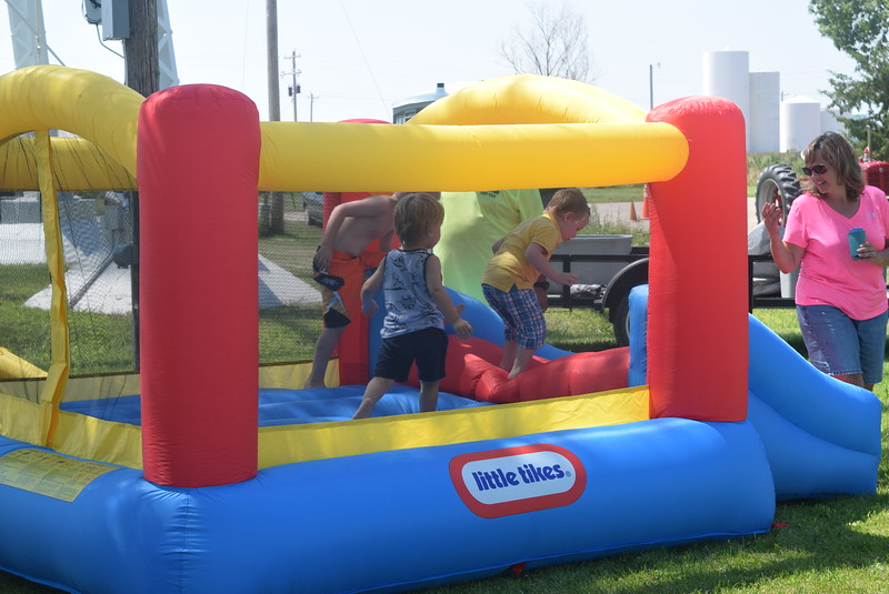 A bouncy house provde fun for youngsters at the Crook Fair Saturday, July 29, 2016.