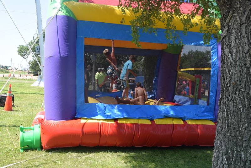 A bouncy house provided fun for children at the Crook Fair Saturday, July 29, 2016.