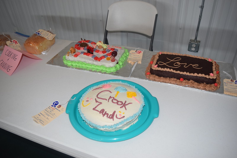 "Cake exhibits in the Crook Fair, Saturday, July 29, 2016, were designed to go with this year's theme ""Crook Land."""