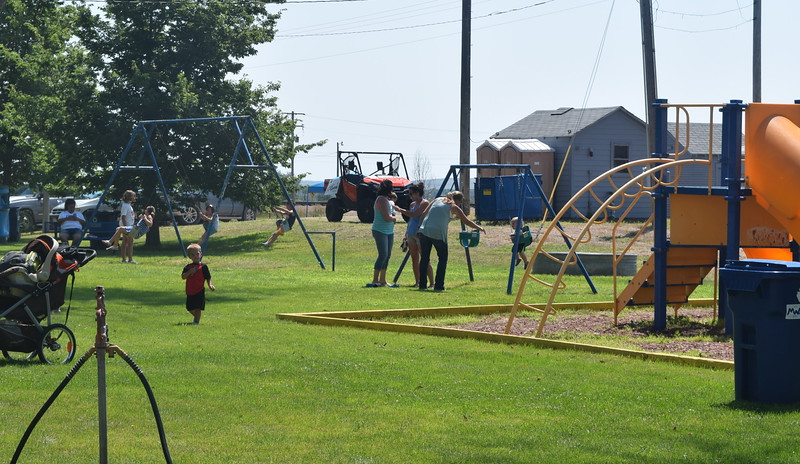 Families have playing at the park during the Crook Fair Saturday, July 29, 2016.