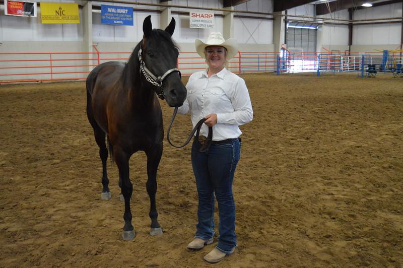 Bailey Nelson, senior reserve champion showman. 2016 Logan County Fair Horse Show halter class
