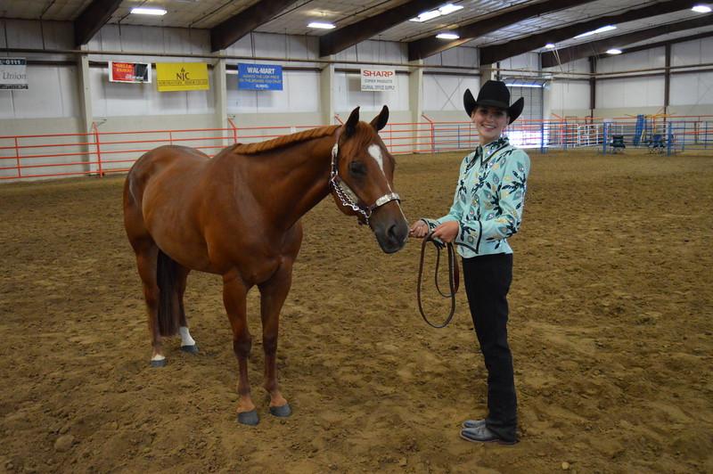 Abbey Brower, senior champion showman. 2016 Logan County Fair Horse Show halter classes.