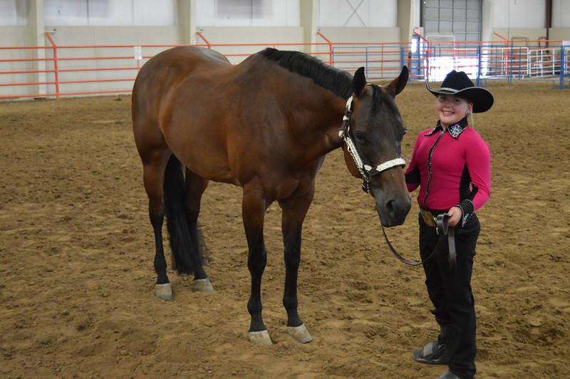 Maddy Zink, intermediate reserve champion showman. 2016 Logan County Fair Horse Show halter classes