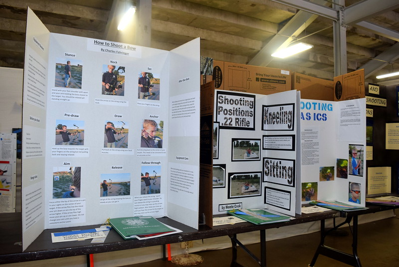 Projects on shooting sports were on display underneath the grandstands Wednesday, Aug. 3, 2016, at the Logan County Fair.