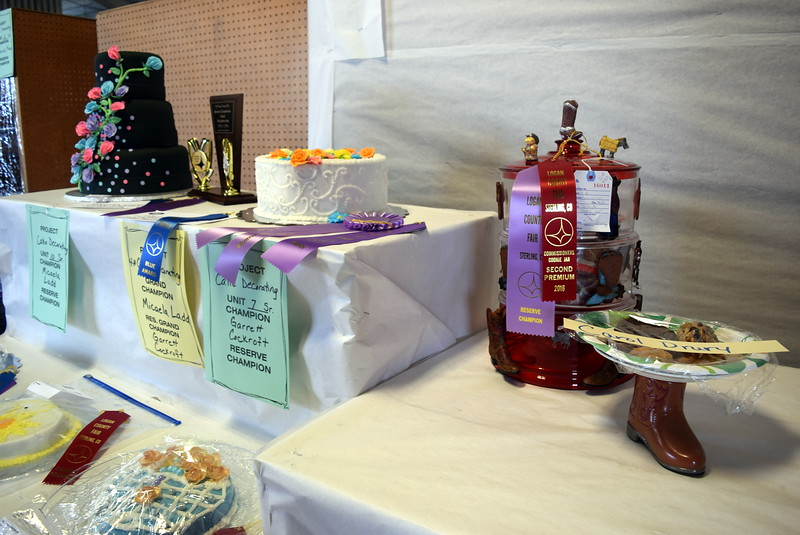 Award winning cakes and cookies were on display underneath the grandstands at the Logan County Fair Wednesday, Aug. 3, 2016.