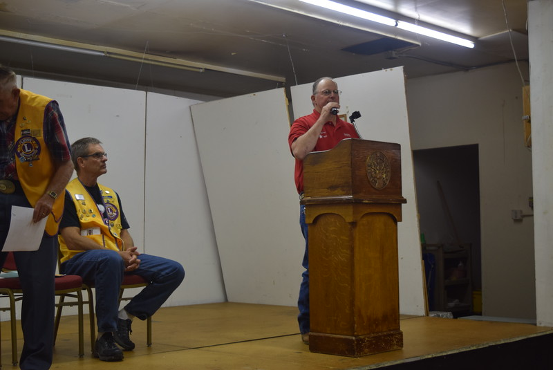 Fair Board President Ken Meis invites everyone to come out to the Logan County Fair during the Sterling Lions Club's Cowboy Breakfast Wednesday, Aug. 3, 2016.