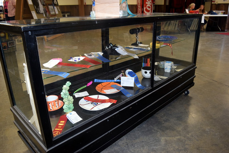Pottery and other artwork on display in the Gary DeSoto Building Thursday, Aug. 4, 2016, at the Logan County Fair.