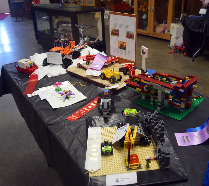 Lego projects on display in the Gary DeSoto Building Thursday, Aug. 4, 2016, at the Logan County Fair.