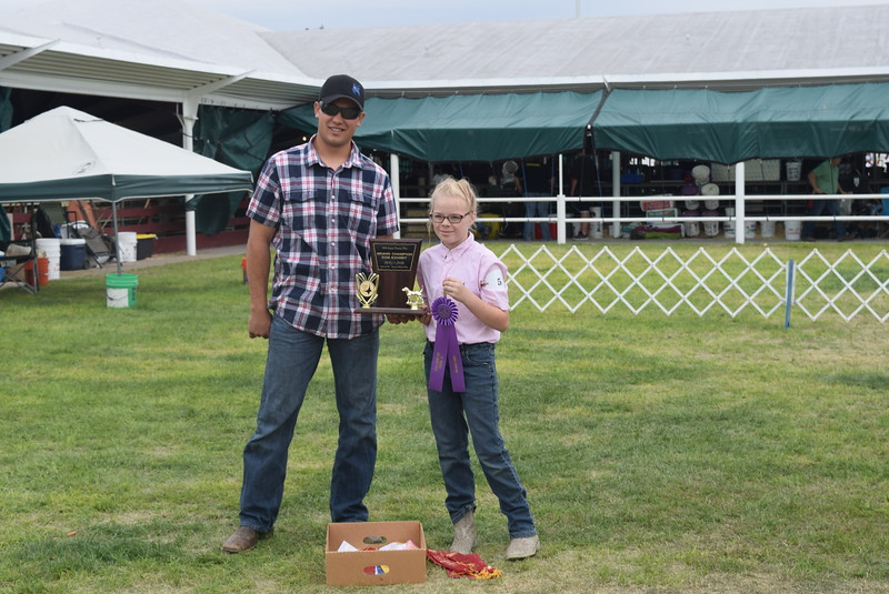 Sadie Fehringer was the Grand Champion in the Junior Dog Show Friday, Aug. 5, 2016, at the Logan County Fair.
