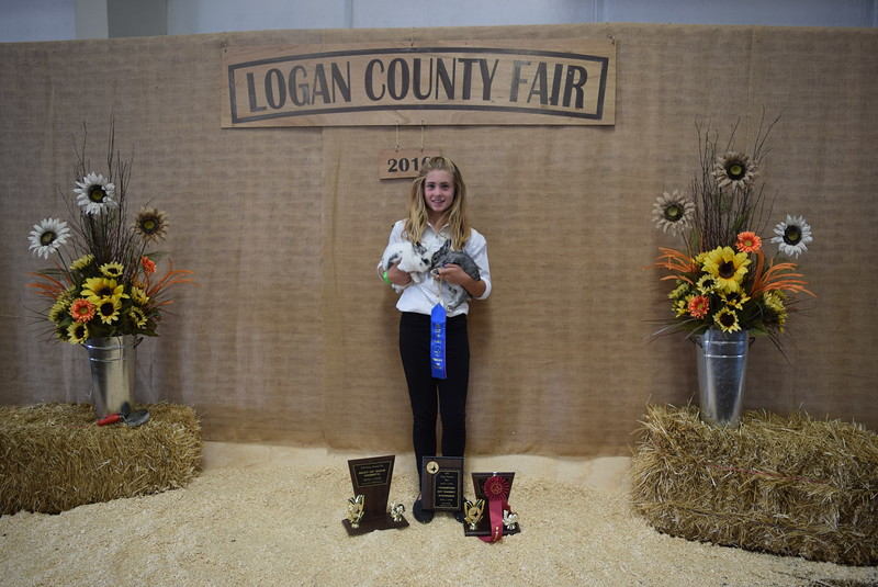Amanda Thorpe, champion intermediate rabbit showman, champion other breed - doe and buck, best of show, best of four class.