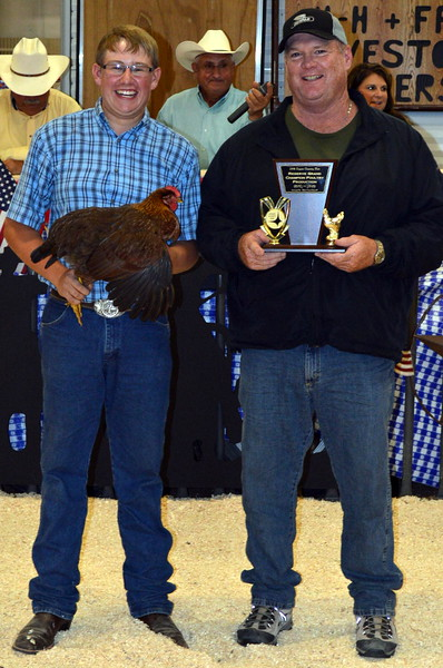 Reserve Grand Champion Poultry, shown by Adam Davis, $600 paid by Peetz Co-Op.