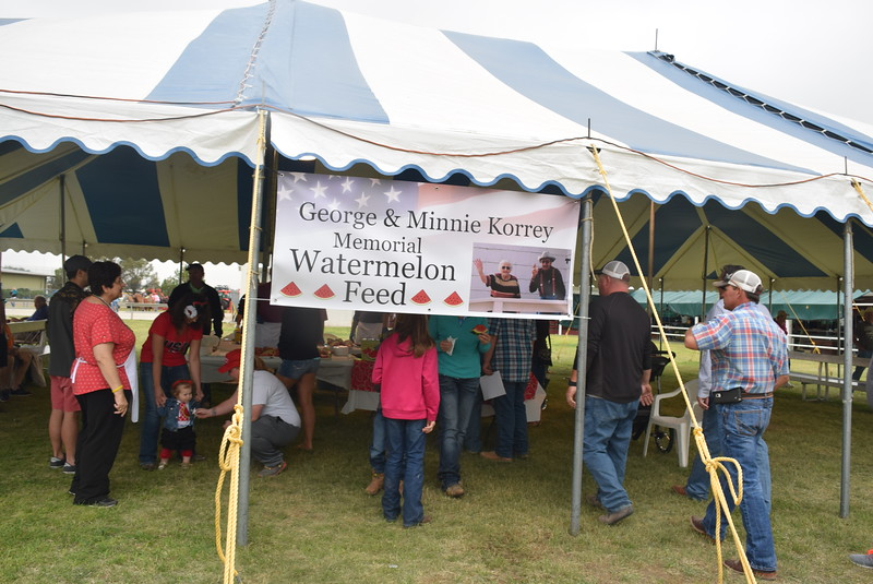 The George and Minnie Korrey Memorial Watermelon Feed took place Saturday, Aug. 6, 2016, at the Logan County Fair.