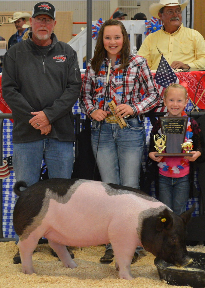 Reserve Grand Champion Market Swine, shown by Alli Stromberger, $3,500 paid by VY Trucking.