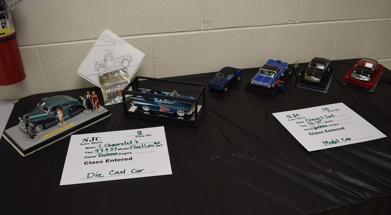 A variety of die cast and model cars were on display at the NJC Auto Show Saturday, April 2, 2016.