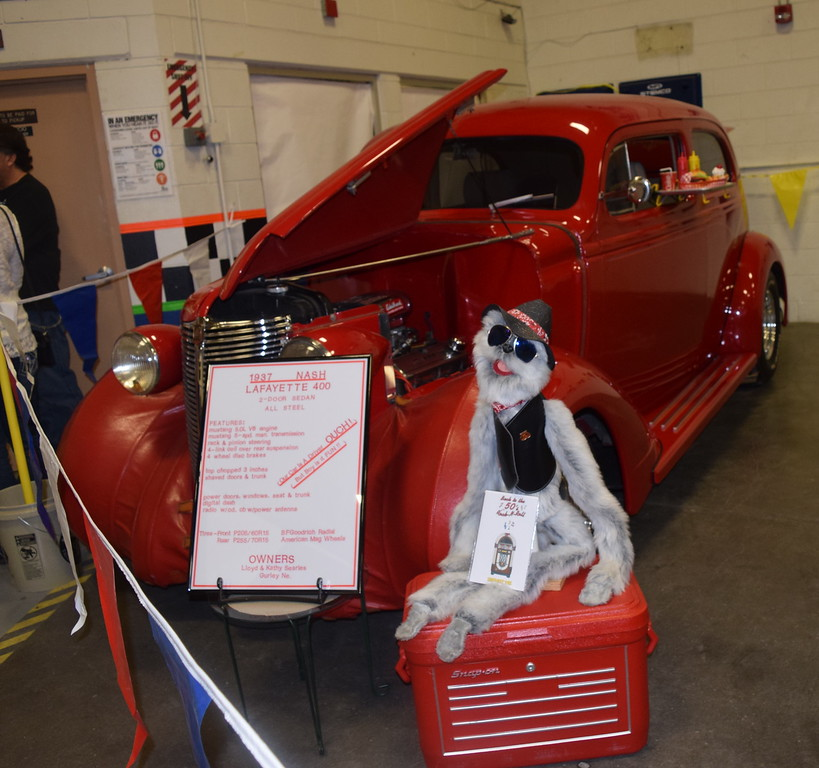 A 1937 Nash Lafayette 400 was among the vehicles on display at the NJC Auto Show Saturday, April 2, 2016.