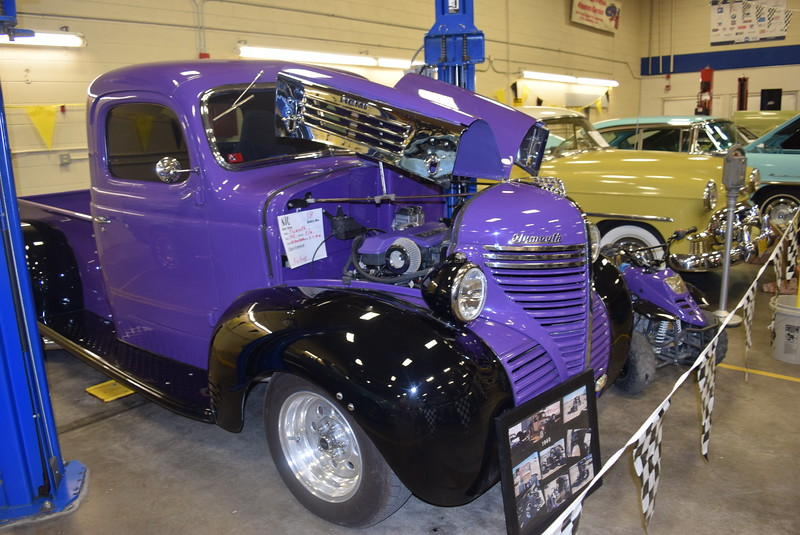 A 1946 Plymouth was among the pickups on display at the NJC Auto Show Saturday, April 2, 2016.