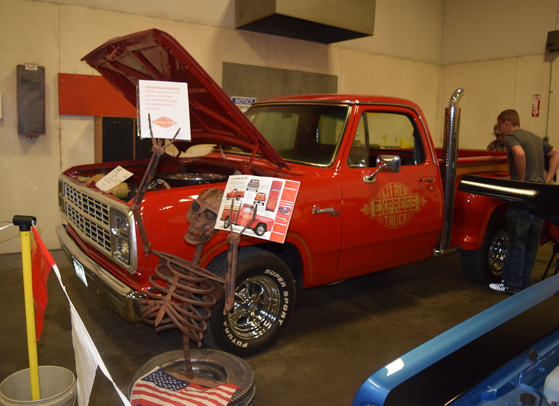A 1979 Dodge UL Red Express was among the pickups on display at the NJC Auto Show Saturday, April 2, 2016.