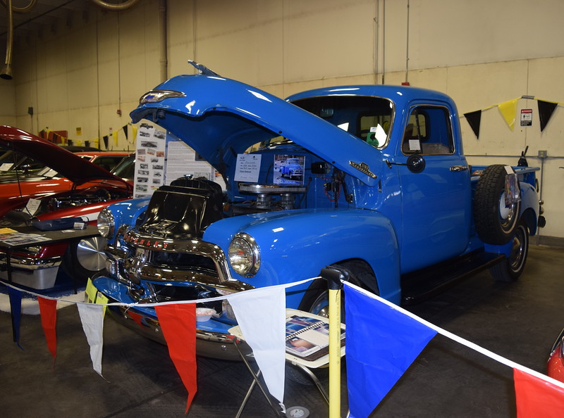 Several pickups were on display at the NJC Auto Show Saturday, April 2, 2016.