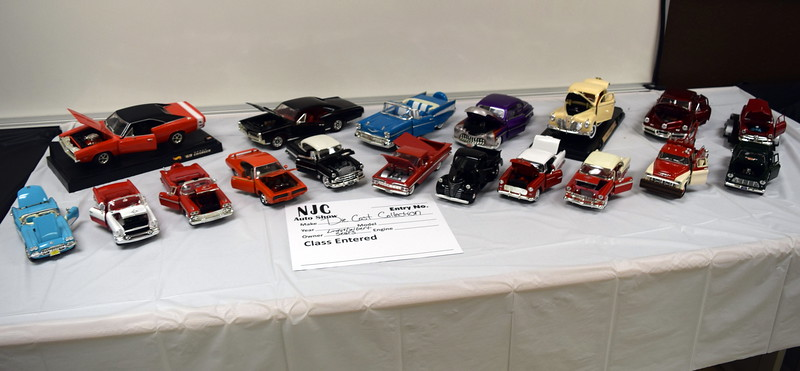A die cast car collection on display at the NJC Auto Show Saturday, April 2, 2016.