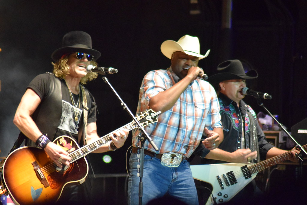 . The East Cheyenne Gas Storage Night Show at the 2017 Logan County Fair, featuring Big & Rich and Cowboy Troy, with Forgotten Highway as the opening act, on Aug. 12, 2017. (Sara Waite/Journal-Advocate)