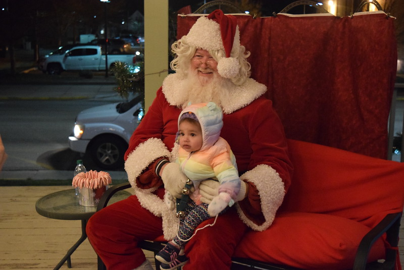 Malika Adara Rahman, one-year-old daughter of MD Mucktadir and Laura Rahman, of Greeley, was among the children that paid Santa a visit at the Logan County Courthouse Gazebo following the Parade of Lights Thursday, Nov. 30, 2017.