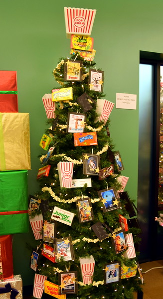 Denise Ladd's tree at Sterling Public Library's 2017 Parade of Trees.