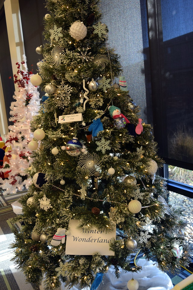 High Plains 4-H Club's tree at Sterling Public Library's 2017 Parade of Trees.